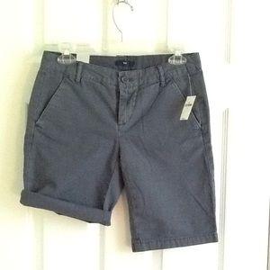 GAP Gray Boyfriend Shorts Khaki Roll Up Sz 00 NWT